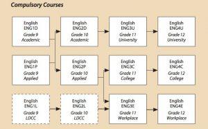 Compulsory courses flow chart