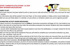 Semester 1 Exam Guidelines and Student Information