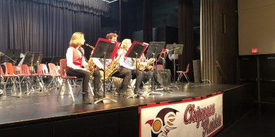 2019 Sax Quartet Performing