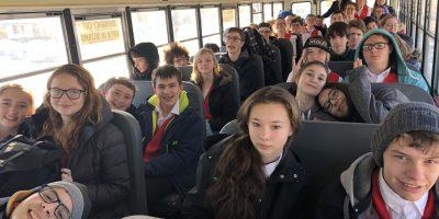 Students on school bus