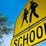 School cross walk sign