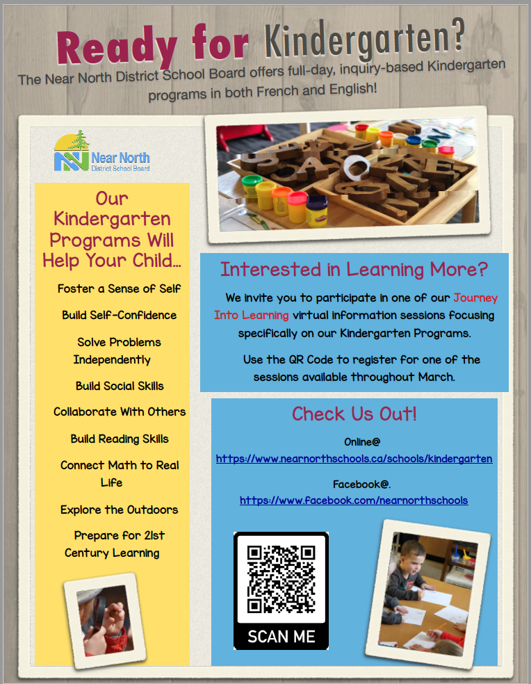 This poster is to promote Kindergarten Registration.