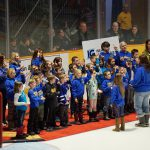 Mapleridge Students Sign O'Canada at the Battalion Game