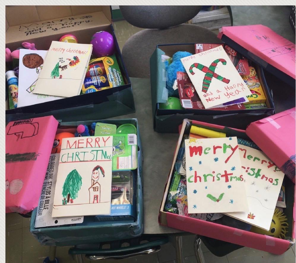 Shoebox Christmas donations