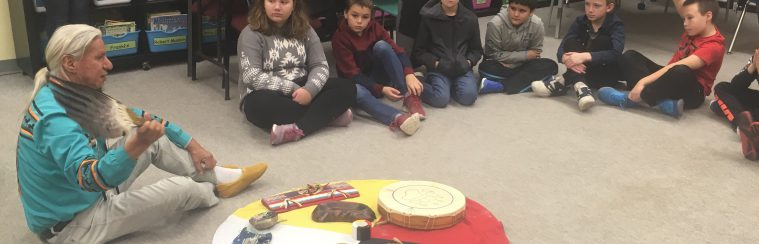 Students learning about indigenous culture