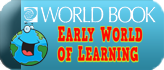 Early World Book of Learning Button