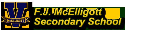 F.J McElligott school logo