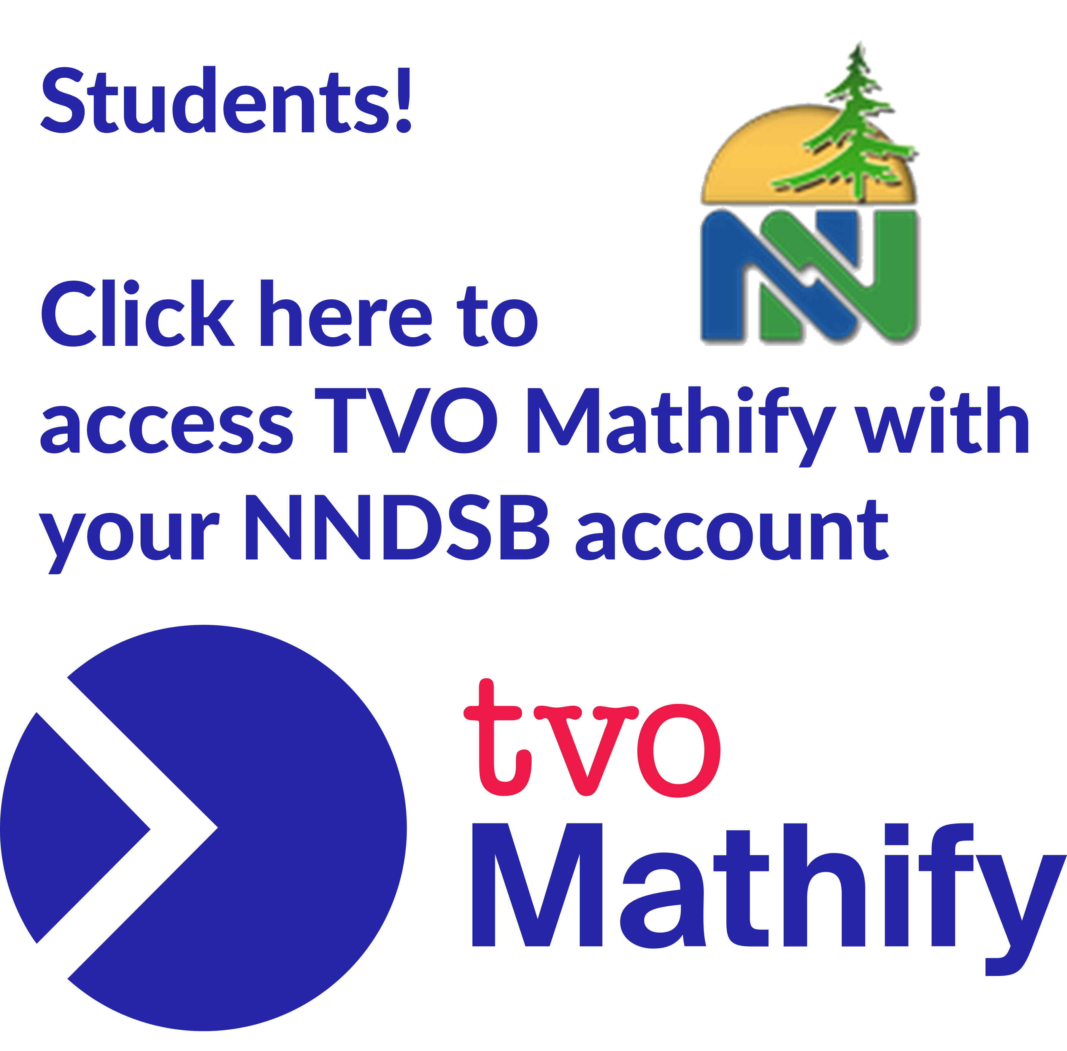 Image Link to login directly to Mathify with your Near North account