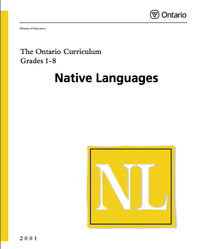Native Languages Curriculum Grade 1-8