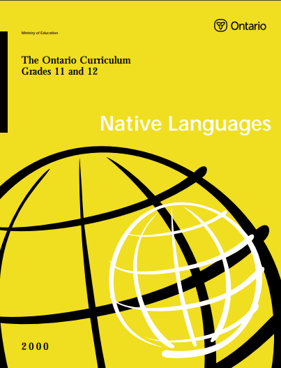 Native Languages Curriculum Grade 11-12