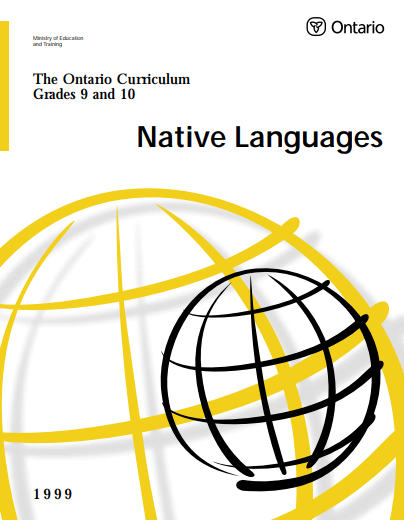 Native Languages Curriculum Grade 9-10