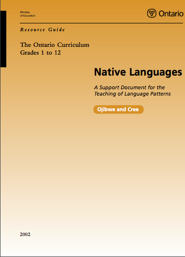 Native Languages Resource Guide Grade 1-12