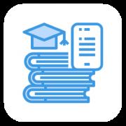 Virtual library button