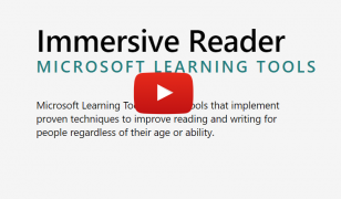 Immersive reader Microsoft learning tools