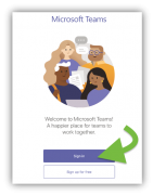 Microsoft teams sign in