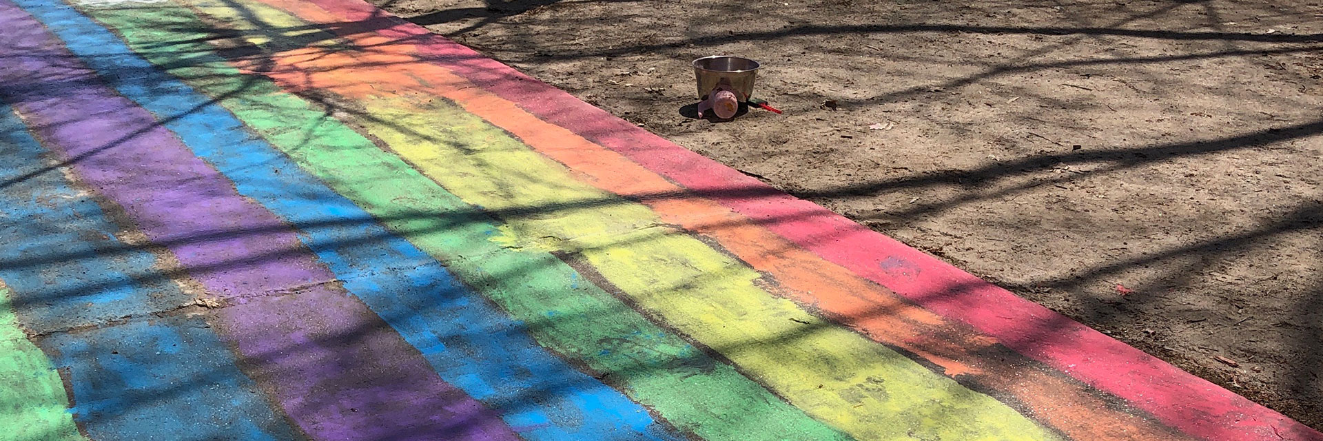 Painted Rainbow Banner