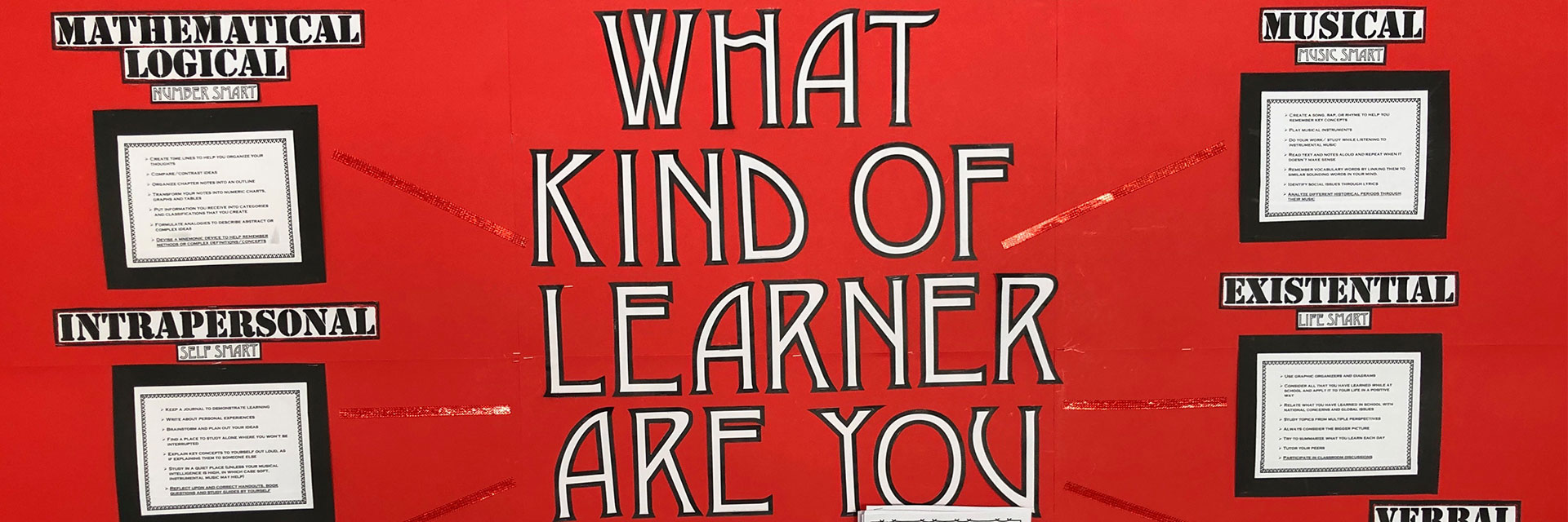 """What kind of learner are you"" banner?"