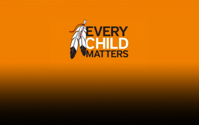 Every Child Matters on orange background