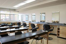 Photo of new aesthetics classroom at Chippewa Secondary School