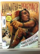 Student's learning about Hiawatha and the Peacemaker.