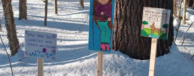 Student work for community nature trails.